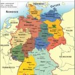 Федеративная республика Германия – политическая карта на немецком языке