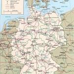 Немецкая политическая карта Федеративной Республики Германия