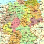 Автомобильная карта Германии на немецком языке