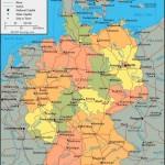 ФРГ - политическая карта на английском языке