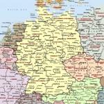 Карта ФРГ политическая на немецком языке