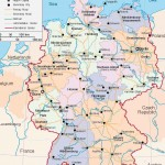 Карта Германии политическая (язык - английский)