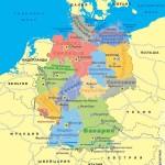 Политическая карта Германии с границами федеральных земель