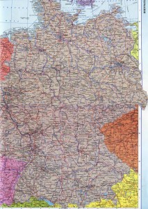 Германия на подробной политической карте страны на русском языке