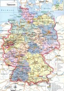 Карта автомобильных дорог ФРГ на немецком языке
