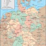 Германия на английской политической карте