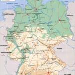 Российская физическая карта Германии