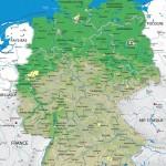 Французская физическая карта Германии
