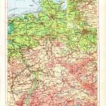 Физическая карта Германии советских времен