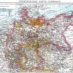 Старинная политическая карта Германии дореволюционных времен