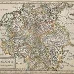 Германия – старинная карта на английском языке