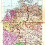 Политическая карта Германии и Нидерландов среднего масштаба