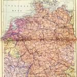 Советская карта Западной и Восточной Германии