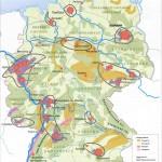 Экономика современной Германии на карте