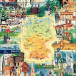 Карта достопримечательностей Германии