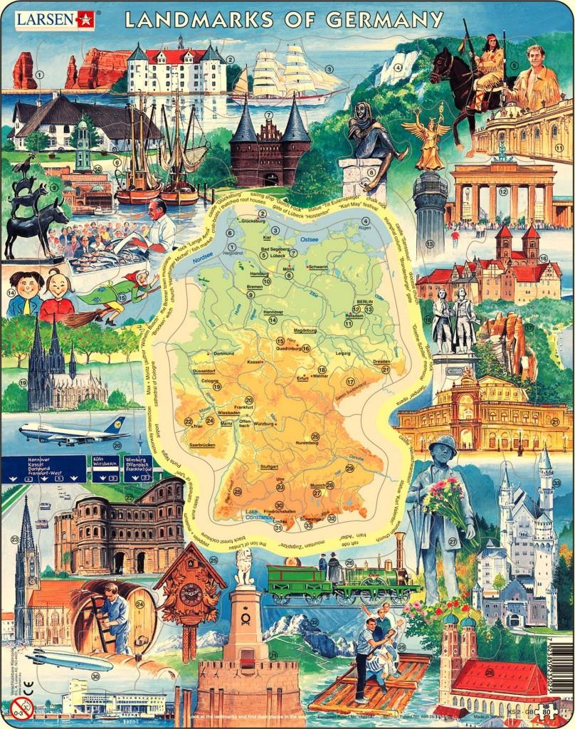 Туристическая карта Германии