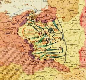 Историческая карта - нападение Германии на Польшу 1 сентября 1939 года