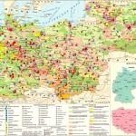 Экономическая карта Германии и ряда стран Восточной Европы