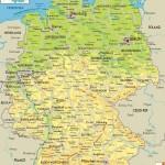 Физическая и политическая карта Германии