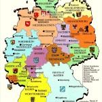 Карта регионов ФРГ