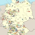 Фирмы и компании Германии на экономической карте