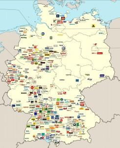 Карта фирм и предприятий Германии