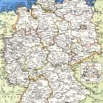Подробная политическая карта Германии на английском языке
