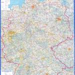 Подробная русскоязычная карта Германии 2004 года
