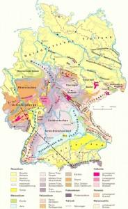 Геологическая карта Германии