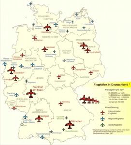 Карта аэропортов Германии
