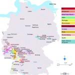 Районы виноградарства Германии на карте