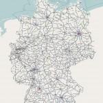 Все железные дороги Германии на одной карте