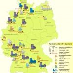 Карта атомных электростанций Германии