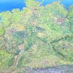 Леса Германии на большой физической карте