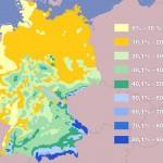Насколько вероятен снег в новогодние праздники в разных частях ФРГ